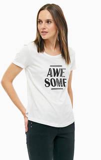 Хлопковая футболка с контрастным принтом S.Oliver
