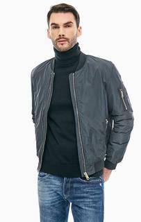 Серая куртка бомбер с карманами Replay