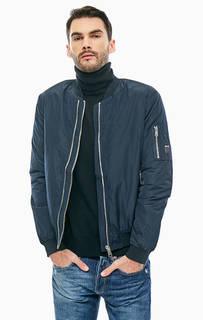 Синяя куртка бомбер с карманами Replay