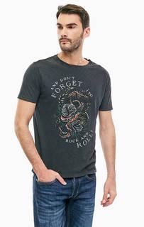 Хлопковая футболка с декором Replay