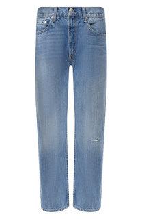 Укороченные джинсы с потертостями Rag&Bone