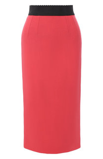 Шелковая юбка-карандаш Dolce & Gabbana