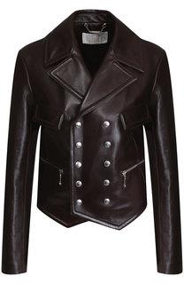 Двубортная кожаная куртка Chloé
