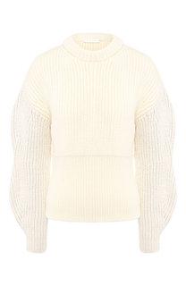 Шерстяной пуловер со спущенным рукавом Chloé