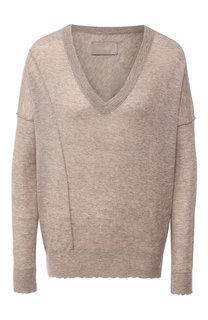 Кашемировый пуловер с V-образным воротником Zadig&Voltaire