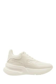 Белые кожаные кроссовки Oversized Runner Alexander Mc Queen