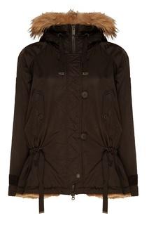 Черная куртка с мехом Bomboogie