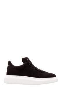 Черные текстильные кроссовки Oversized Alexander Mc Queen