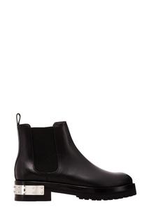 Черные кожаные ботинки с отделкой Alexander Mc Queen