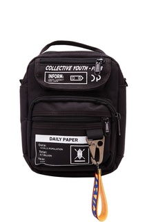 Черная сумка с контрастной отделкой Daily Paper