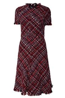 Твидовое платье в клетку Alexander Mc Queen