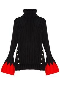 Трикотажный свитер ребристой вязки Alexander Mc Queen