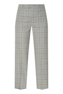 Шерстяные клетчатые брюки RED Valentino