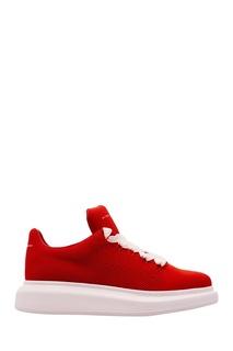 Красные текстильные кроссовки Oversized Alexander Mc Queen