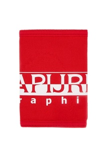 Красный кошелек с принтом Napapijri