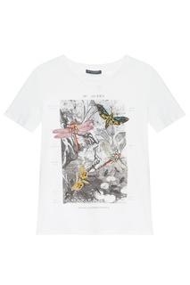 Белая футболка с принтом Alexander Mc Queen