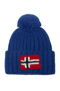 Синяя шапка с помпоном Napapijri