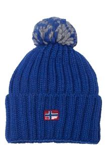 Синяя шапка с нашивкой Napapijri