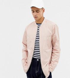 Розовая рубашка навыпуск с длинными рукавами и молнией Noak - Розовый