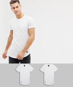 Набор из 2 длинных футболок Produkt - Белый