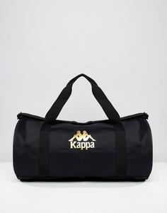 Черная сумка с отделкой фирменной лентой Kappa - Черный