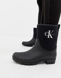 Черные резиновые сапоги Calvin Klein Jeans Philippa - Черный