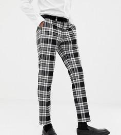 Черные зауженные брюки в клетку Heart & Dagger - Черный