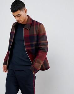 Красная клетчатая куртка на молнии ASOS DESIGN - Красный