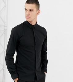 Строгая черная рубашка с длинными рукавами Noak - Черный