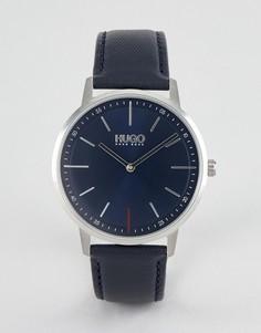 Часы с кожаным ремешком HUGO 1520008 Exist - Темно-синий