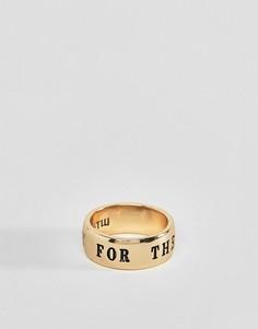 Золотистое кольцо WFTW - Золотой