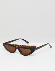 Черепаховые солнцезащитные очки Jeepers Peepers - Коричневый