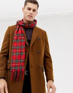 Красный шарф с принтом тартан Burton Menswear - Красный