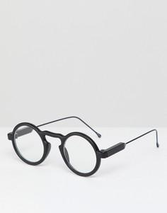 Круглые очки в черной оправе с прозрачными стеклами Spitfire Aurora - Черный