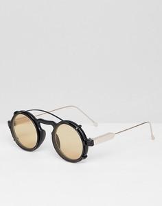 Черно-коричневые круглые солнцезащитные очки Spitfire Aurora - Черный