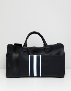 Черная сумка с тканой лентой в полоску Peter Werth - Черный
