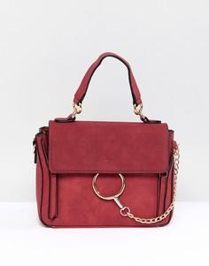 Красная сумка через плечо с кольцом PrettyLittleThing - Красный
