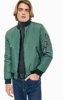Короткая двусторонняя куртка-бомбер с застежкой на молнию Guess