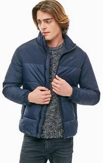 Синяя куртка с воротником/стойкой Jack & Jones