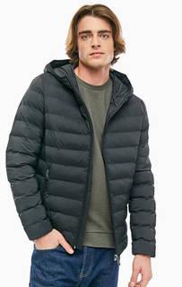 Демисезонная куртка черного цвета с капюшоном Guess