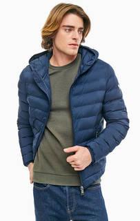 Демисезонная куртка синего цвета с капюшоном Guess