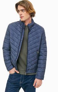 Короткая синяя куртка с дополнительным брелоком Guess