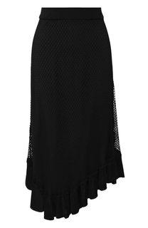 Однотонная юбка-миди в сетку Altuzarra