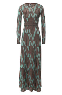 Платье-макси с металлизированной нитью M Missoni