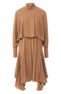 Шелковое платье со складками Chloé