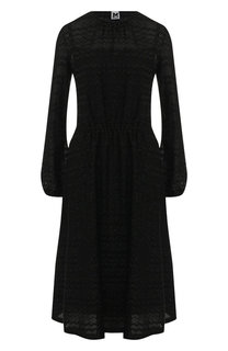 Приталенное платье-миди с металлизированной нитью M Missoni