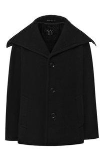 Шерстяное пальто с отложным воротником Yohji Yamamoto