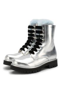 Ботинки из лаковой кожи с внутренней меховой отделкой Simonetta