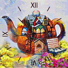 """Алмазная вышивка Color KIT """"Алмазные часы"""" Чайный дом, 30х30 см"""