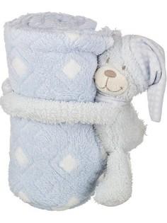 Плед детский (75х100 см) Голубой мишка